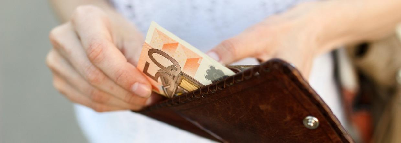 Portemonnee met 50 euro